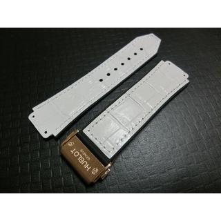 lowest price d9006 83f5c ウブロ 交換用 白レザーxラバーベルト&ローズゴールドバックル