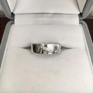 ショーメ(CHAUMET)のショーメ ダイヤモンド リアン リング K18WG 6mm 9.2g(リング(指輪))