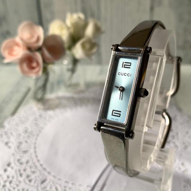 Gucci - 【電池交換済み】GUCCI グッチ 1500L ブラック 腕時計 レクタンギュラの通販 by soga's shop|グッチならラクマ