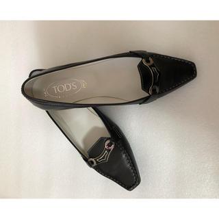 トッズ(TOD'S)のTOD'S   カーフ革 ステッチ シルバー金具(ローファー/革靴)