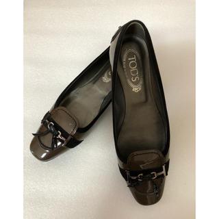 TOD'S   エナメル スェードパイプ シルバー金具(ローファー/革靴)
