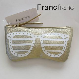 フランフラン(Francfranc)の新品🍓フランフランメガネケース🍓 サングラスケース ゴールド(サングラス/メガネ)