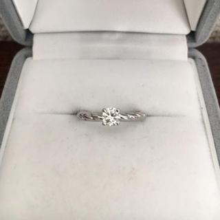 ショーメ(CHAUMET)のショーメ ダイヤモンド リング Pt950 0.27ct F VVS-2(リング(指輪))