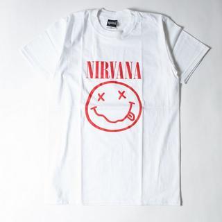新品ニルヴァーナ ロックTシャツ S~XL/ ホワイトagt-0101(Tシャツ/カットソー(半袖/袖なし))