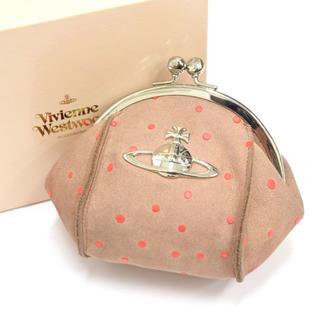 ヴィヴィアンウエストウッド(Vivienne Westwood)の箱付/Vivienne Westwood オーブ がま口 レザー コインケース(財布)