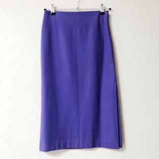 ルシェルブルー(LE CIEL BLEU)のLE CIEL BLUE 紫タイトスカート(ひざ丈スカート)
