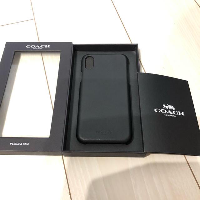 COACH - 最終値下げ!!希少!!coach iPhoneX ケース ブラック 正規品の通販