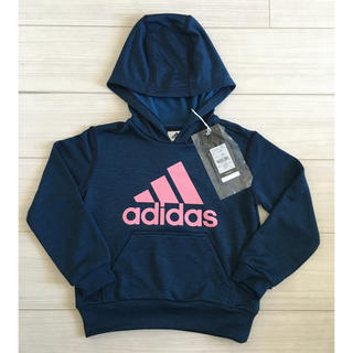 adidas - 【新品タグ付き】adidasキッズフードパーカー120㎝