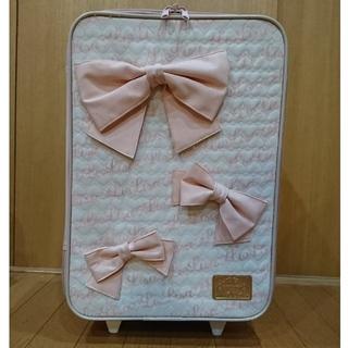 LIZ LISA/キャリーバッグ(りぼん×3)ピンク&白