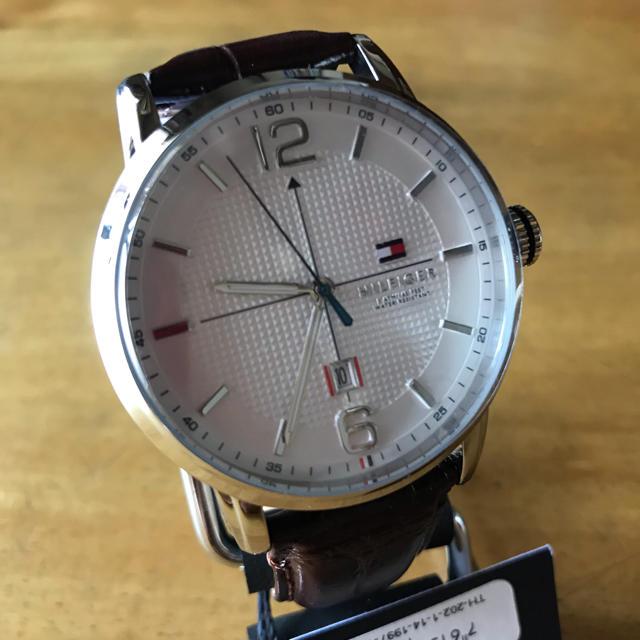 TOMMY HILFIGER - 新品✨トミーヒルフィガー クオーツ メンズ 腕時計 1791217 ホワイトの通販 by てっちゃん(´∀`)|トミーヒルフィガーならラクマ