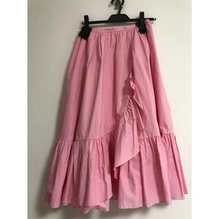チェスティ(Chesty)のうさぎさん専用chestyピンクフリルスカート(ひざ丈スカート)