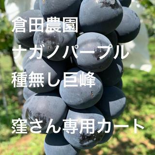 倉田農園 ナガノパープル+種無し巨峰 窪さん専用カート(フルーツ)