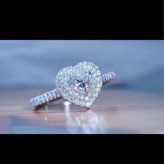 GIA♡ハートシェイプダイヤモンドリング(リング(指輪))