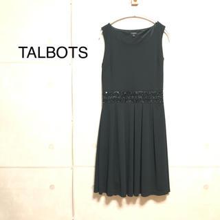 タルボット(TALBOTS)のTALBOTS 黒  ワンピース(ロングワンピース/マキシワンピース)