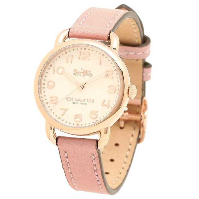 139.コーチ 腕時計 レディース COACH  ピンク ゴールドの通販 by るんるん's shop|ラクマ