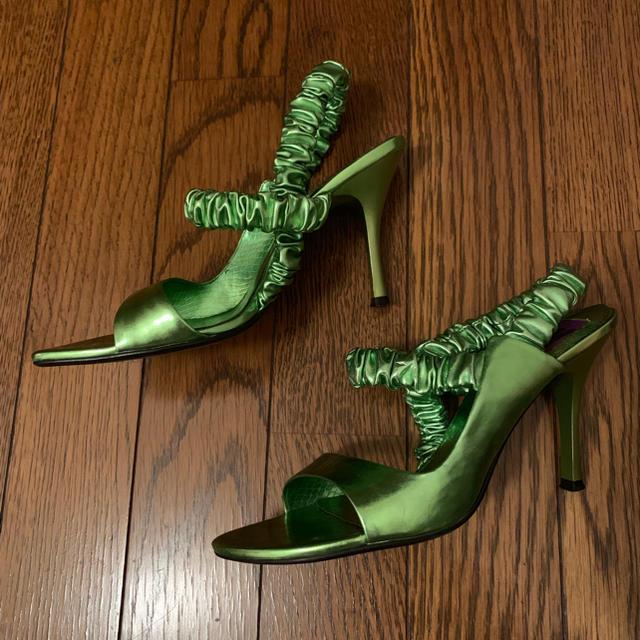SLY(スライ)のSLY メタリックサンダル レディースの靴/シューズ(サンダル)の商品写真