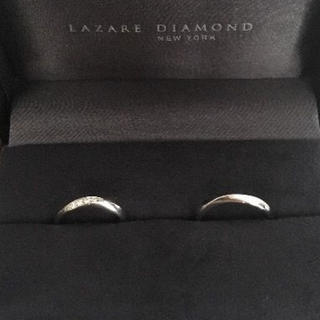 ラザール ダイヤモンド オーチャード ペアリング Pt950 6.4g(リング(指輪))