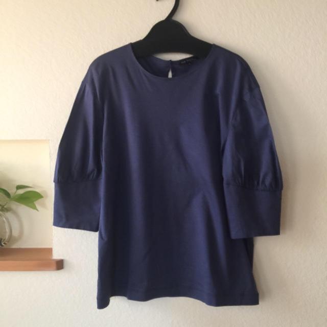23区(ニジュウサンク)の23区ハイゲージスムースパフスリーブカットソー レディースのトップス(カットソー(半袖/袖なし))の商品写真