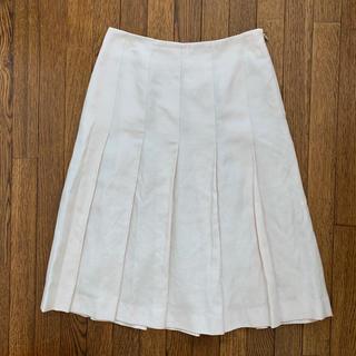 バーニーズニューヨーク(BARNEYS NEW YORK)のバーニーズニューヨーク ボックスプリーツスカート M(ひざ丈スカート)