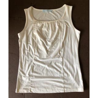 ワコール(Wacoal)のワコール 授乳服 タンクトップ 白 MーL(マタニティトップス)