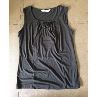 ワコール(Wacoal)のワコール 授乳服 黒ノースリーブMーL(マタニティトップス)