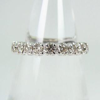 K18WG ダイヤモンド エタニティ リング 7号[f45-2](リング(指輪))