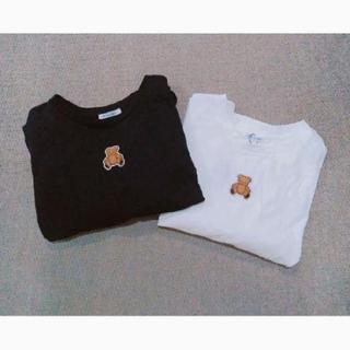 ワンアフターアナザーナイスクラップ(one after another NICE CLAUP)のnicra×olive くまワッペンTシャツ(Tシャツ(長袖/七分))