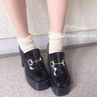 エブリン(evelyn)の【evelyn】オリジナルビット厚底ローファー👒(ローファー/革靴)