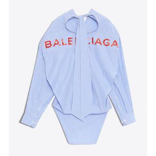 バレンシアガ(Balenciaga)のBALENCIAGA ニュースウィングシャツ ブルーストライプ(シャツ/ブラウス(長袖/七分))