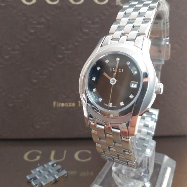 Gucci - 超美品 グッチ ダイヤモンド11p  腕時計 稼働良好の通販 by たま|グッチならラクマ