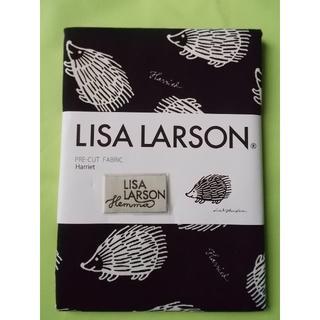 リサラーソン(Lisa Larson)のLisa Larson 手芸用生地 Harriet 黒地・白ハリネズミ(生地/糸)