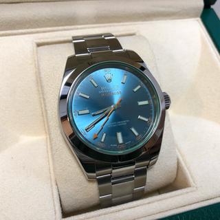 ロレックス(ROLEX)のロレックス ミルガウス Zブルー 116400GV 付属品完備 美品(腕時計(アナログ))