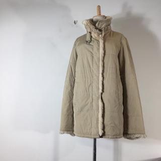 バーバリー(BURBERRY)のバーバリー ロンドン  コート ベージュ サイズ40 ファー付(毛皮/ファーコート)