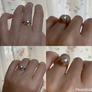 お値下げ✨K18⚜️あこや真珠💝ナチュラルパールリング(リング(指輪))