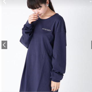 カスタネ(Kastane)のカスタネ    ロゴロンT  ネイビー(Tシャツ(長袖/七分))