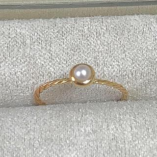 K18  YG 淡水パールリング (リング(指輪))