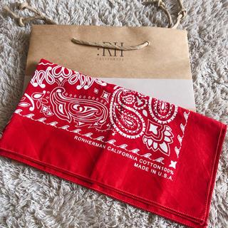ロンハーマン(Ron Herman)のロンハーマン バンダナ ショップ袋付き(バンダナ/スカーフ)