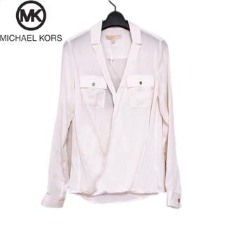 マイケルコース(Michael Kors)の【新品】MICHAEL KORS マイケルコース Vネック 襟付きブラウス XS(シャツ/ブラウス(長袖/七分))