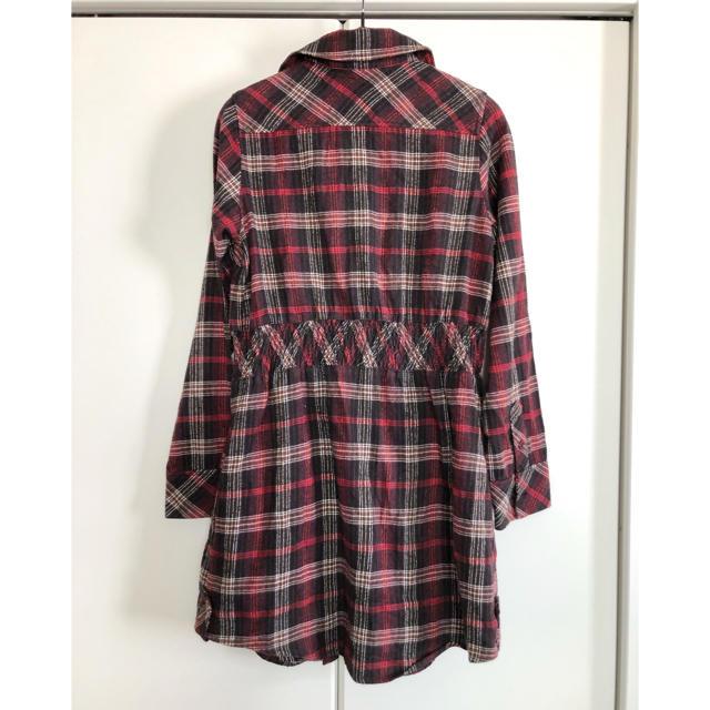 mystic(ミスティック)のmystic チェックシャツ シャツワンピース レディースのワンピース(ひざ丈ワンピース)の商品写真