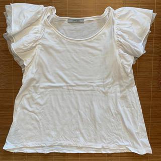オペーク(OPAQUE)の肩ひらひらレース 爽やか白✨(Tシャツ(半袖/袖なし))