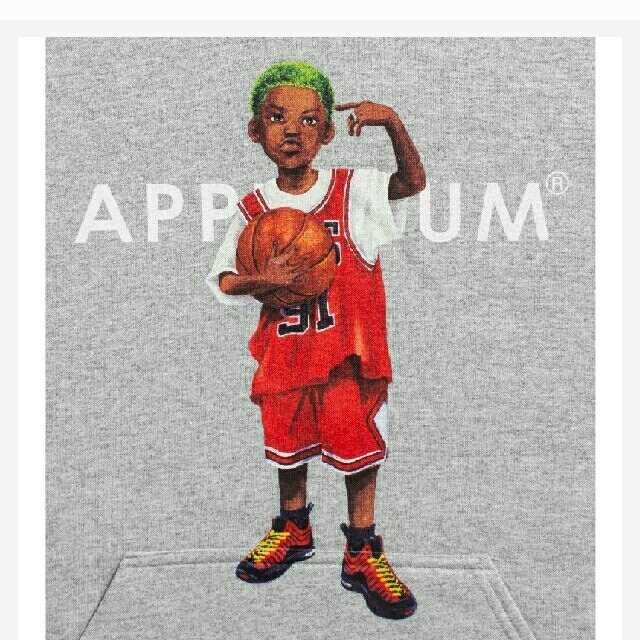 "APPLEBUM(アップルバム)のXL APPLEBUM ""WORM BOY"" Sweat Parka メンズのトップス(パーカー)の商品写真"