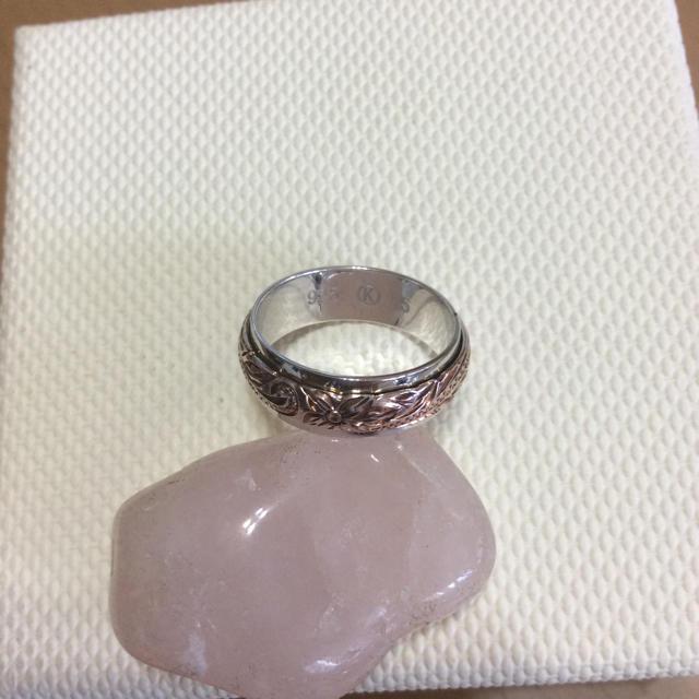 ハワイアンジュエリー ピンクゴールドリング 8号 レディースのアクセサリー(リング(指輪))の商品写真