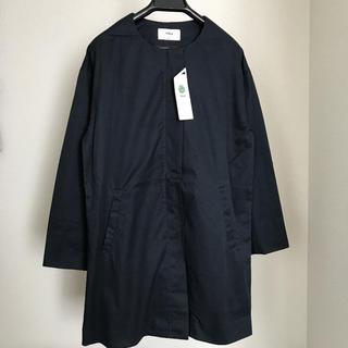 イッカ(ikka)の新品 ikka イッカ ダブルクロスノーカラーコート コート S ネイビー(ロングコート)