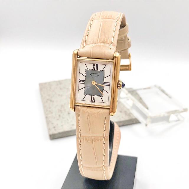Cartier - 【仕上済/ベルト二色付】カルティエ タンク ゴールド レディース 腕時計の通販 by LMC|カルティエならラクマ