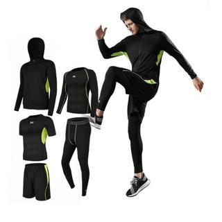 スポーツウェア 運動服 上下 5点セット メンズ BLACK+GREEN(ウェア)