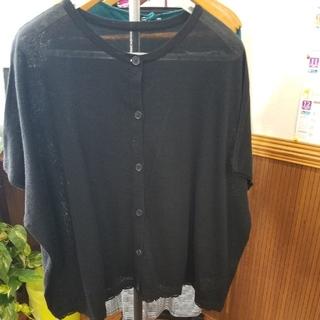 サマンサモスモス(SM2)のSM2 新品 今季購入黒色半袖カーディガン(カーディガン)