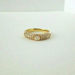 さくら様専用 k18 ダイヤモンド リング 0.61ct パヴェ 11.5号 (リング(指輪))