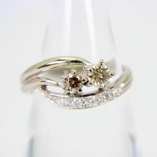 K18WG ダイヤモンド リング 9.5号 [f48-6](リング(指輪))