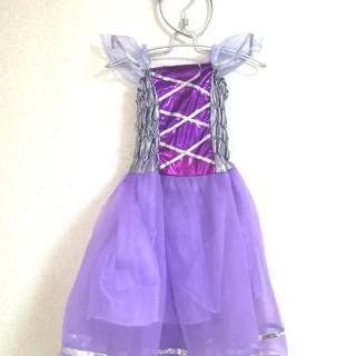 【格安少し難あり】ハロウイン ドレス 100cm カチューシャ ステッキ 羽根(ドレス/フォーマル)