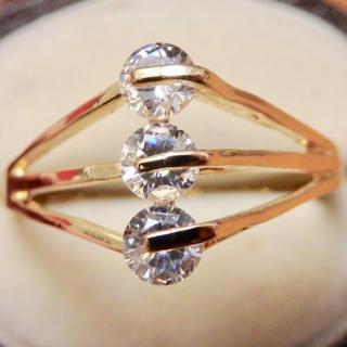即購入OK●キラキラ*クリアストーンゴージャスリング指輪大きいサイズ(リング(指輪))